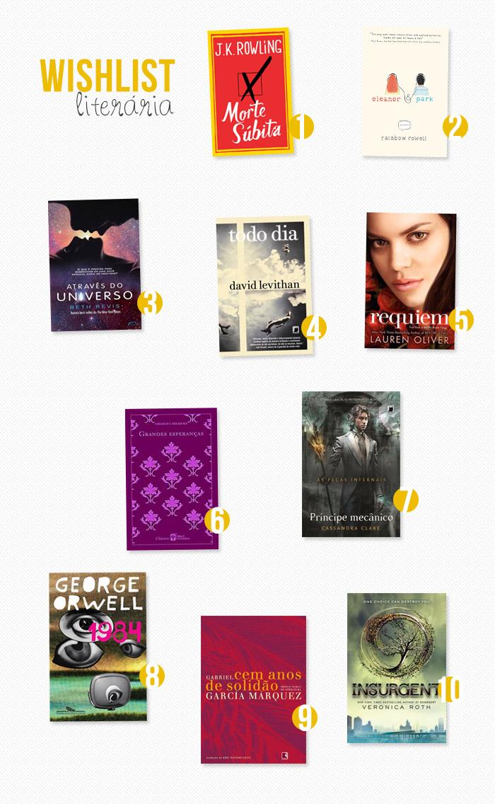 Wishlist literária: agosto 2013