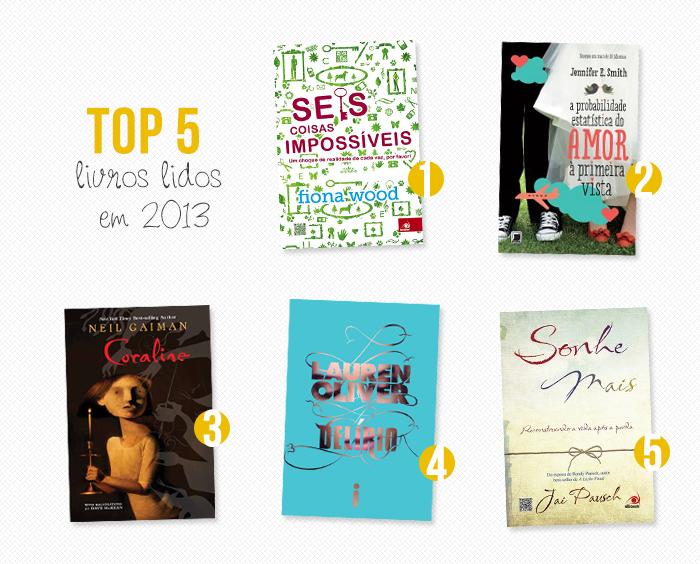 TOP 5:  Livros lidos em 2013