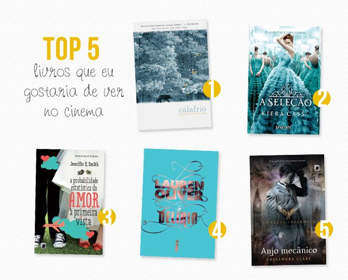 TOP 5: Livros que eu gostaria de ver no cinema