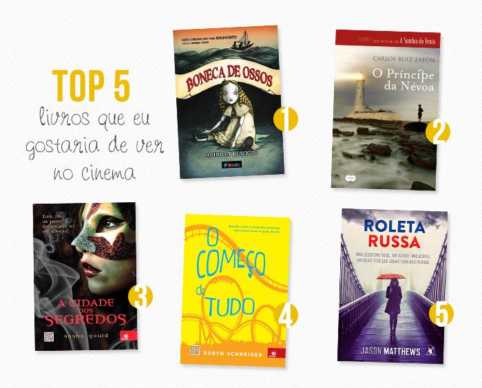 TOP 5: Livros que eu gostaria de ver no cinema #2