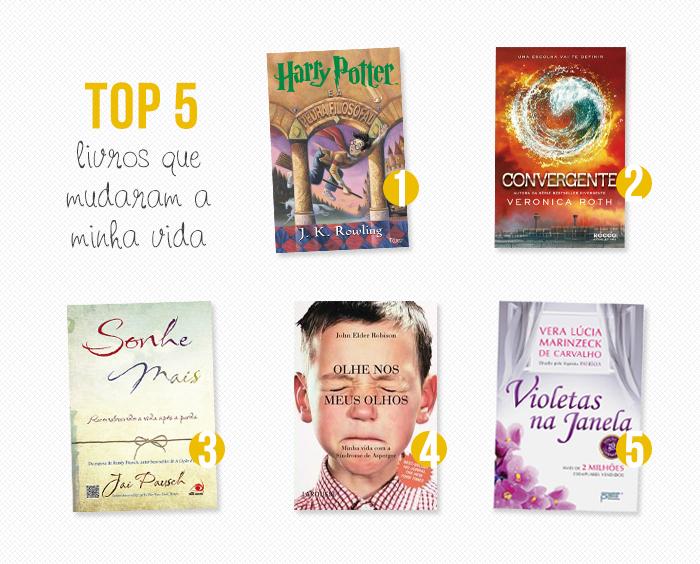 TOP 5: Livros que mudaram minha vida