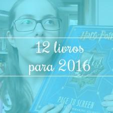 12 livros para 2016
